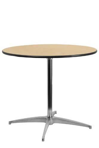 30 inch Round Wood Cocktail Table 30 inch Tall