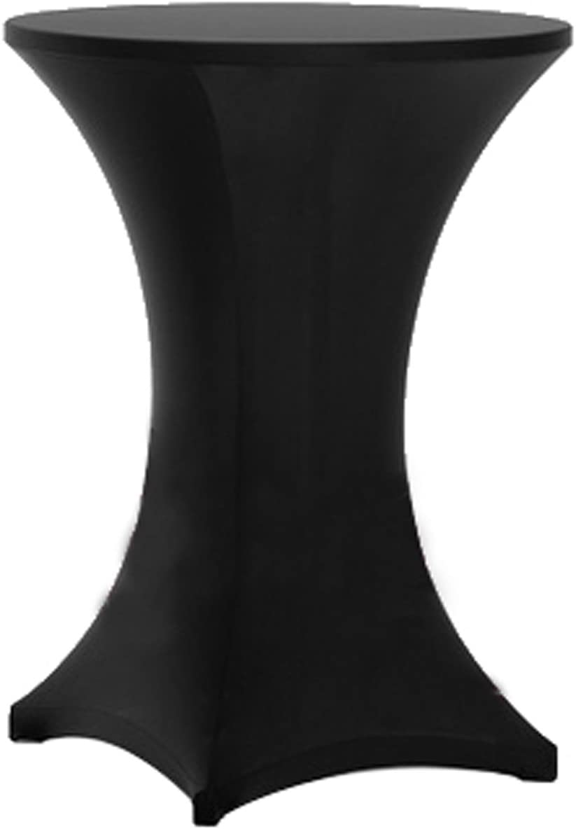 30 inch Round Wood Cocktail Table 42 inch Tall (Free Spandex Table Cover))